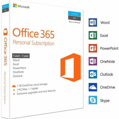 مایکروسافت Office 365 Personal Subscription نسخه Retail